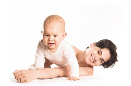 Mother and her baby son are playing together. Stock Photo - 427314