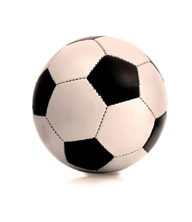 Photo of a soccer ball.