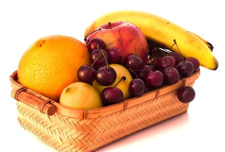 Cesto de frutas  Foto de archivo - 474859