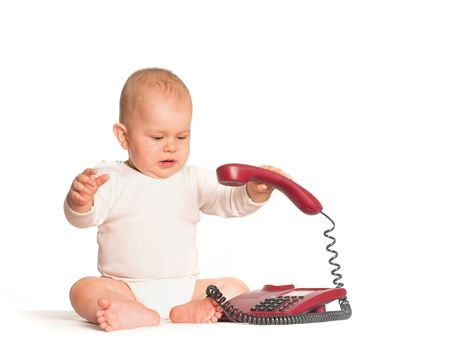 Connecting other people is easy today when the whole world is wired in. Even a baby can do it! photo