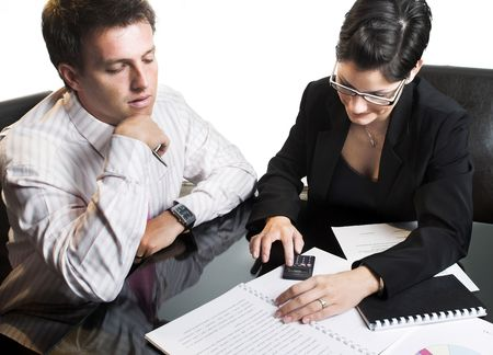 Young businesspeople are working in the meeting room. Stock Photo - 548312