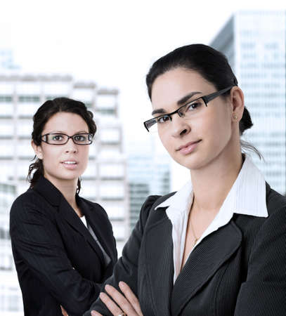 Young and determined women in business. Stock Photo