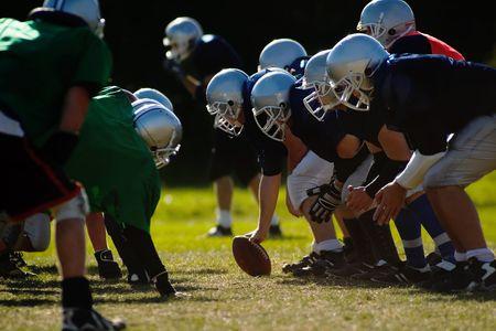 jugadores de futbol: Los jugadores del balompi� son listos comenzar.