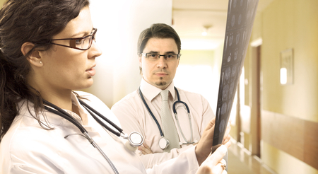 Young doctors in the hospital. Stock Photo - 1414101