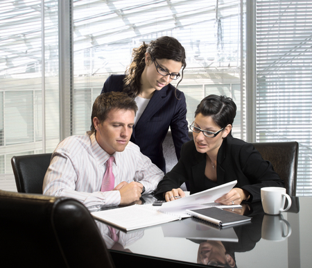 Young businesspeople on a meeting Stock Photo - 1414188