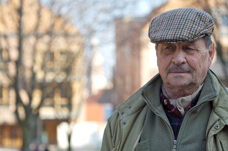 Outdoor portrait of a senior man, europian style. Stock Photo - 1422869