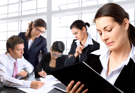 Young businesspeople having meeting in the office. Stock Photo - 1414234