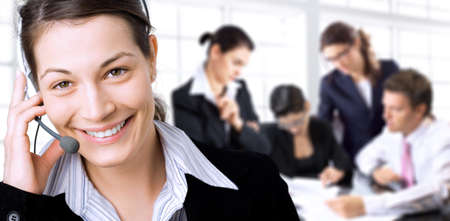 Young businesspeople having brainstorming in the office. Stock Photo - 1414224