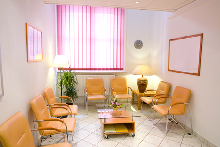 private hospital: Friendly anteroom of a private clinic. Stock Photo