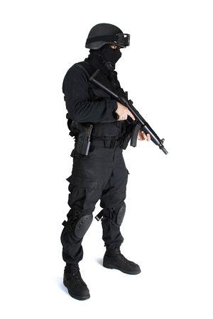 commando: Commando troop is black tactical suit