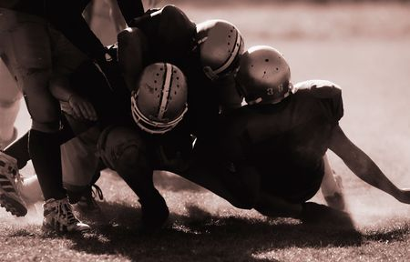 football players: Football players are is serious action.
