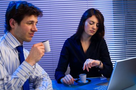 Business team working late in office. Stock Photo - 2105431