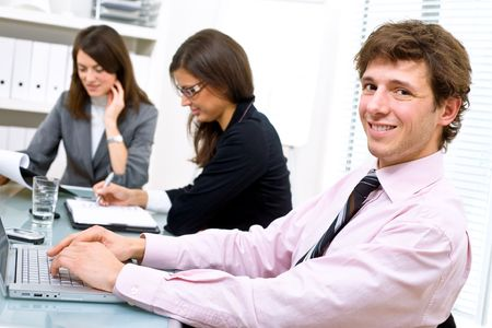 Business team working in office. Stock Photo - 2139589