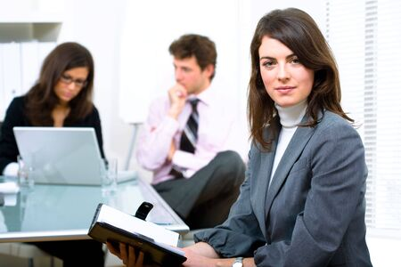 Business team working in office. Stock Photo - 2139595