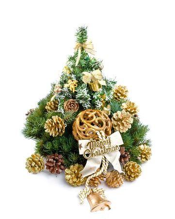 pineal: Christmas decoration isolated on white background.  Stock Photo