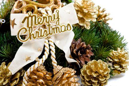 Christmas decoration isolated on white background.  photo