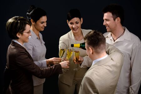 Young businesspeople on New Year Eve Party. Stock Photo - 2206889