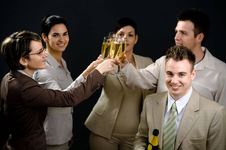 Young businesspeople on New Year Eve Party. Stock Photo - 2206858