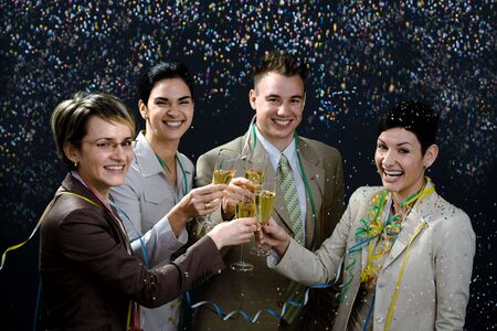 Young businesspeople on New Year Eve Party. Stock Photo - 2206888