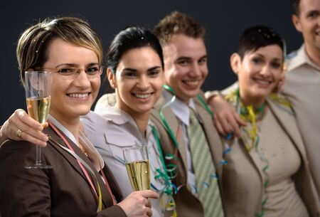 Young businesspeople on New Year Eve Party. Stock Photo - 2206875