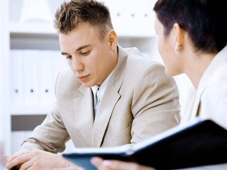 Business couple working together at office. Stock Photo - 2383429