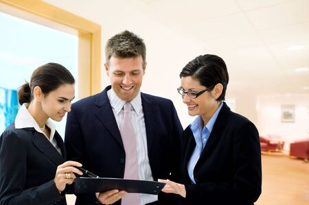 Business people interacting in office. Stock Photo - 3785459