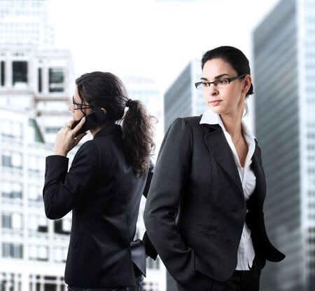 Young businesswomen in the downtown. Stock Photo - 3785465