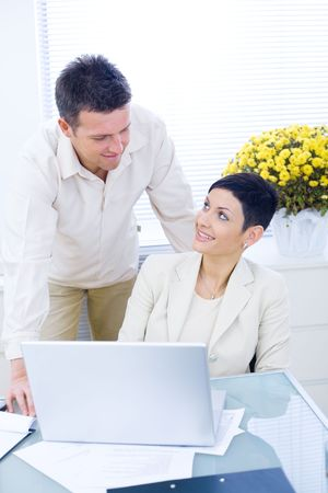 Business couple working together at office. Stock Photo - 3868531
