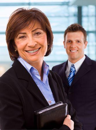 Portrait of senior businesswoman at office lobby. Stock Photo - 3884382