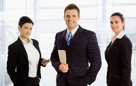 Team of happy successful business people smiling. Stock Photo - 3916201