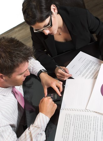 Young businesspeople are working in the meeting room. Stock Photo - 4105349