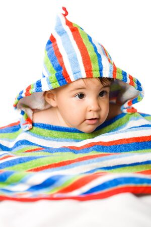 Portrait of 8 months old Baby girl in vivid colors. Stock Photo - 4121346
