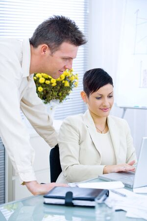 Business couple working together at office. Stock Photo - 4130450