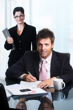 Businessman is signing a contract. Stock Photo - 4161138