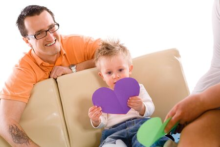Father and baby boy enjoy time together at home. Stock Photo - 5943350