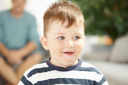 Closeup portrait of happy little boy at home. Stock Photo - 6220715