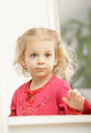 Portrait of happy two years old little girl smiling. Stock Photo - 6374452