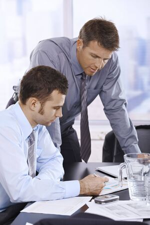 Mid-adult businessmen working together in office. Stock Photo - 6527211