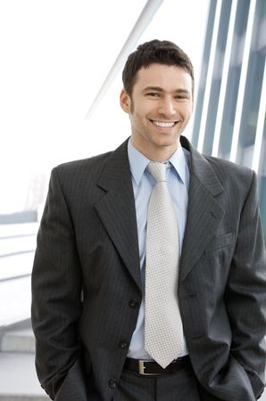 Portrait of successful young businessman at corporate location. Stock Photo - 6567426