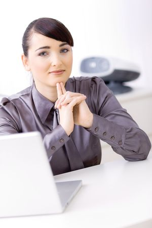 Young businesswoman working on computer at office. Stock Photo - 6592991