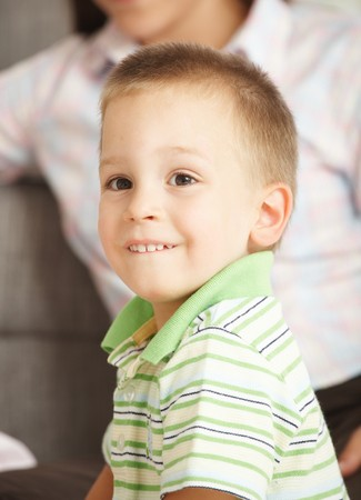 Portrait of happy little boy (3-4 years) smiling. Stock Photo - 7058776