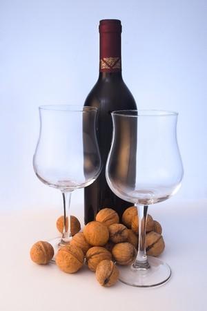 wino: Quality red wine Stock Photo