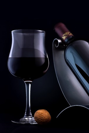 A glass of an elegant, quality red wine. Stock Photo - 7273482