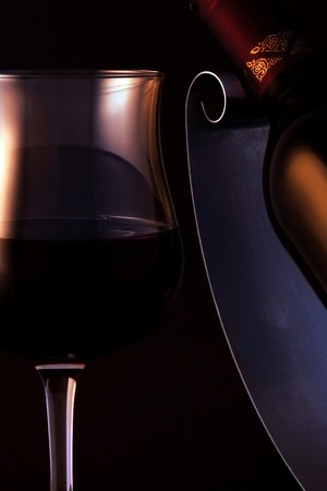 A glass of an elegant, quality red wine. Stock Photo - 7273487