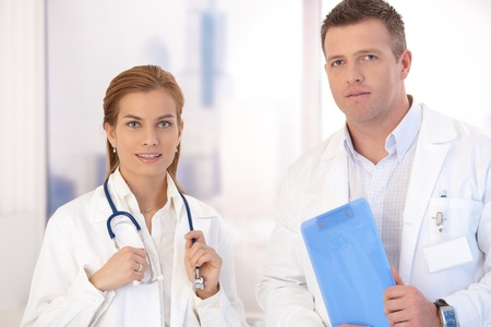 Portrait of male and female doctors in hospital. Stock Photo - 8747061