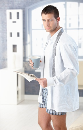 Young man getting ready in the morning. Stock Photo - 8747309