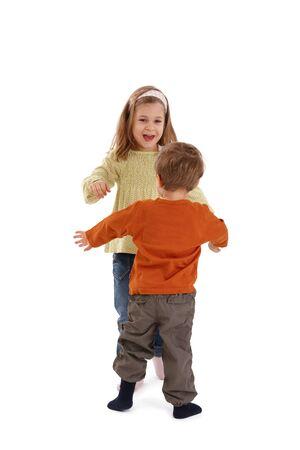 Kids playing together, having fun, laughing. photo