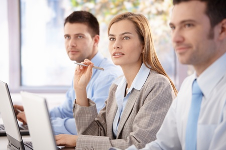 Young, attractive professionals having business training. Stock Photo - 8951386