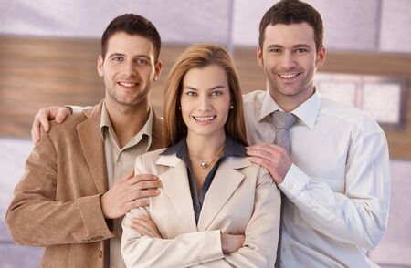 Portrait of happy young businesspeople, smiling. photo