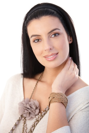 Portrait of attractive woman posing with trendy accessories. Stock Photo - 9299056